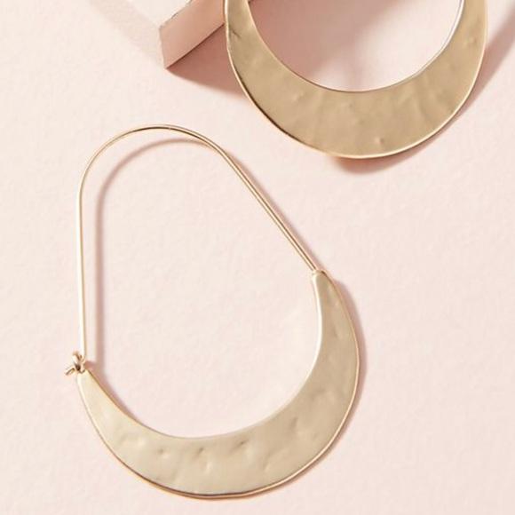 Anthropologie Crescent Mini Hoop Earrings 7063RF